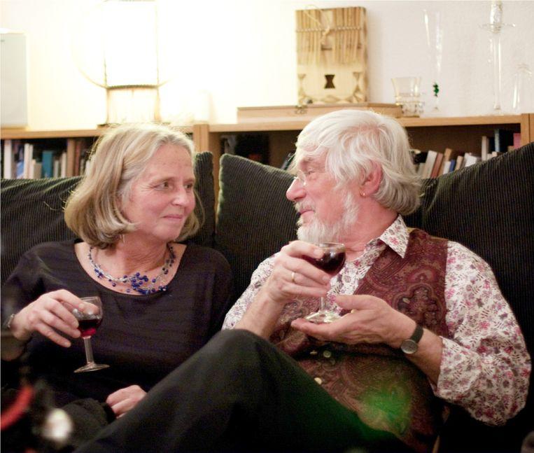 Evert van Uiter met kunsthistorica Claudine Chavannes-Mazel, zijn latere partner. Beeld