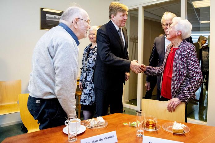 2019-03-20 13:11:53 LIEROP - Koning Willem-Alexander tijdens een werkbezoek aan Dorpscooperatie Lierop Leeft in Lierop.