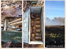 Granaten en patronen uit Tweede Wereldoorlog ontploft in Vorden