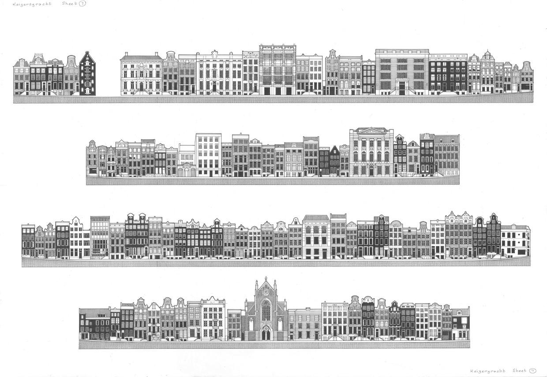 De grachten van Amsterdam, door Brian Delf en Leonoor van Oosterzee Beeld Brian Delf