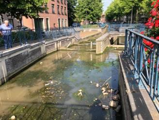 Grote Gete tijdelijk droog door werken Vlaamse Milieumaatschappij