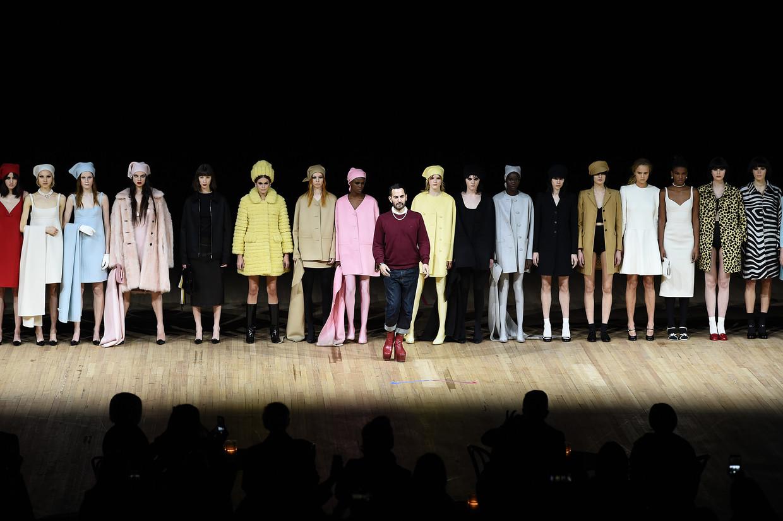 New York Fashion Week was saai en voorspelbaar, zo klonk de kritiek.Enkel de formidabele show van Marc Jacobs was een hoogtepunt. Beeld Getty Images for Marc Jacobs