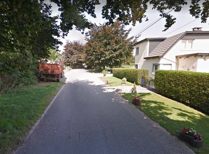 La voiture se trouvait à hauteur du n°32 de la rue du Fort, à Blegny.