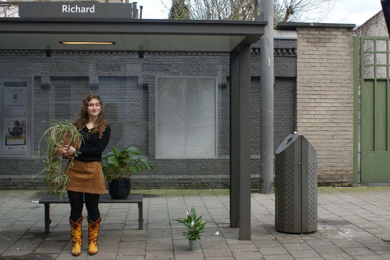 Amber Paris in Antwerpen. Ze laat zich inspireren door de groendaken in Utrecht.