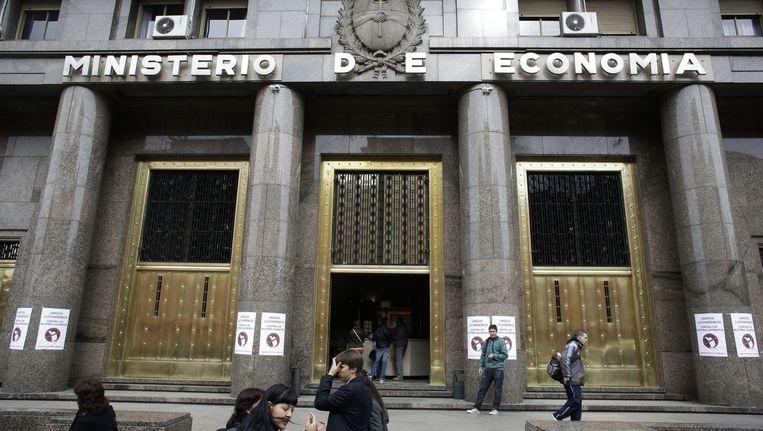 Het gebouw van het Argentijnse ministerie van Economie. Beeld ap