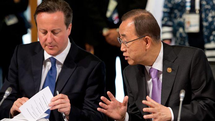Ban Ki-Moon ssamen met David Cameron