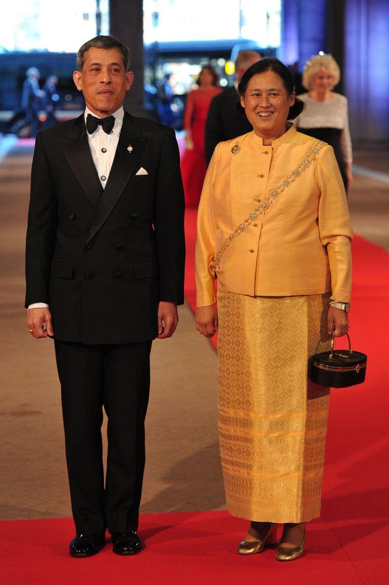 De nieuwe koning Vajiralongkorn en prinses Sirindhorn.
