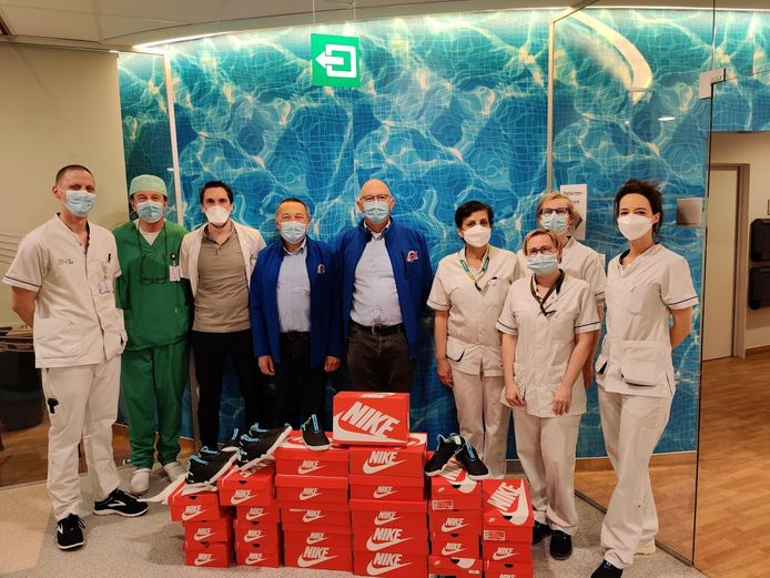 De vzw Help Brandwondenkids bracht een bezoek aan het UZ Gent.