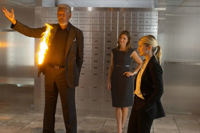 Morgan Freeman als illusionist in 'Now You See Me'. Beeld rv