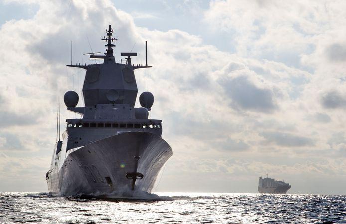 Het Noorse fregat KNM Helge Ingstad op een foto uit 2013.
