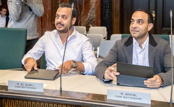 Nourdin el Ouali en Mo Anfal in Rotterdamse gemeenteraad.