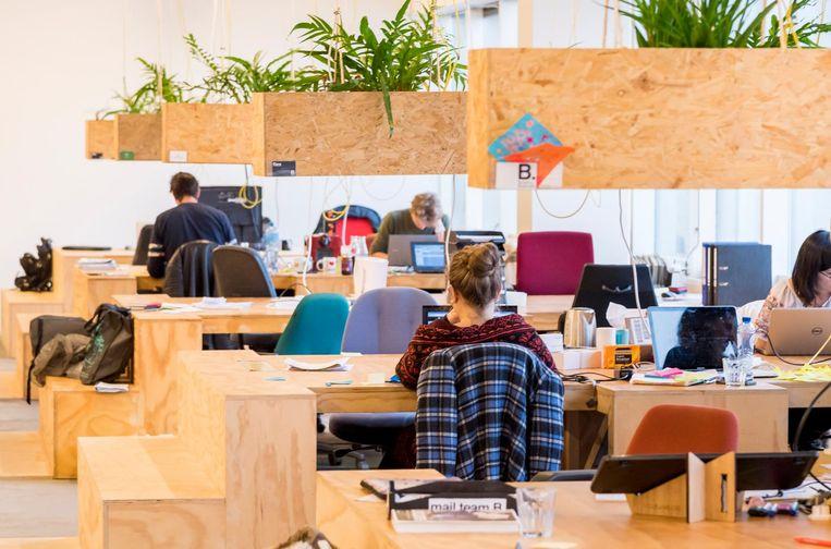 Een kantoor met flexibele werkplekken voor zzp'ers Beeld ANP