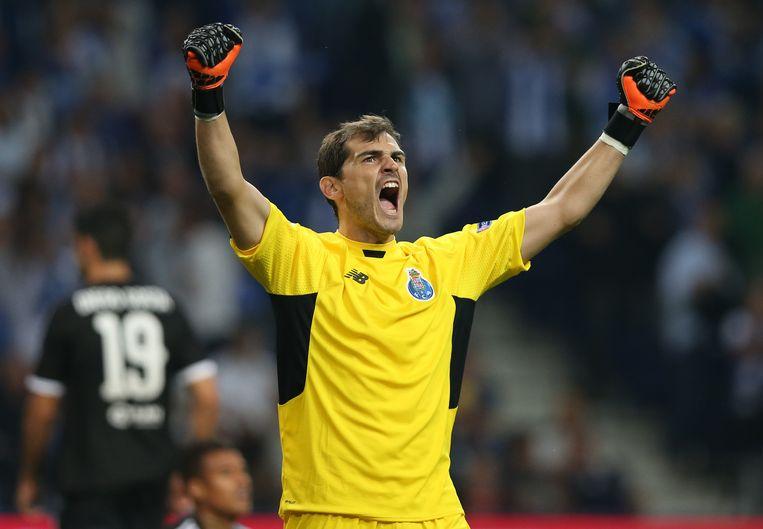 Porto-doelman Casillas juicht ... Beeld ap