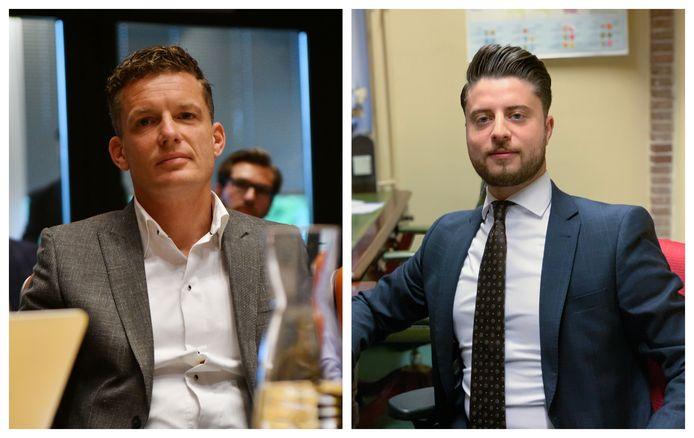 Johan Almekinders (links) gaat met drie andere Statenleden als nieuwe fractie verder. Andreas Bakir (rechts) blijft als eenmansfractie Forum voor Democratie.