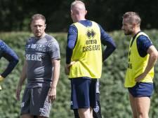 Michele Santoni trainer FC Dordrecht; Leon Vlemmings innovatiemanager