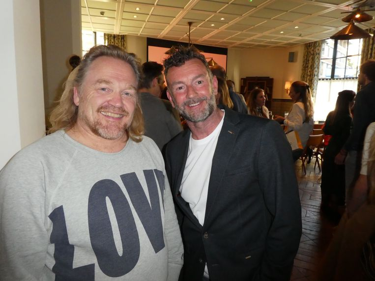 Marcel Pantera (Treat Amsterdam) en auteur Raymond van de Klundert:
