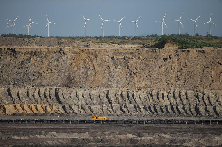 Bruinkoolmijn Welzow Sued van Vattenfall. Beeld getty
