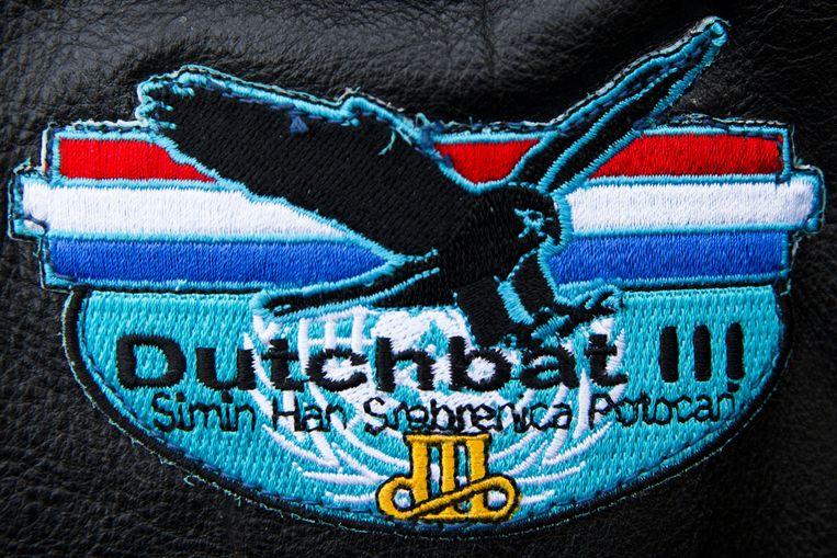 Het logo van Dutchbat III. Beeld anp