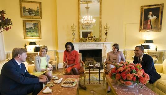 Koning Willem-Alexander en koningin Maxima waren in 2009 te gast in het Witte Huis.