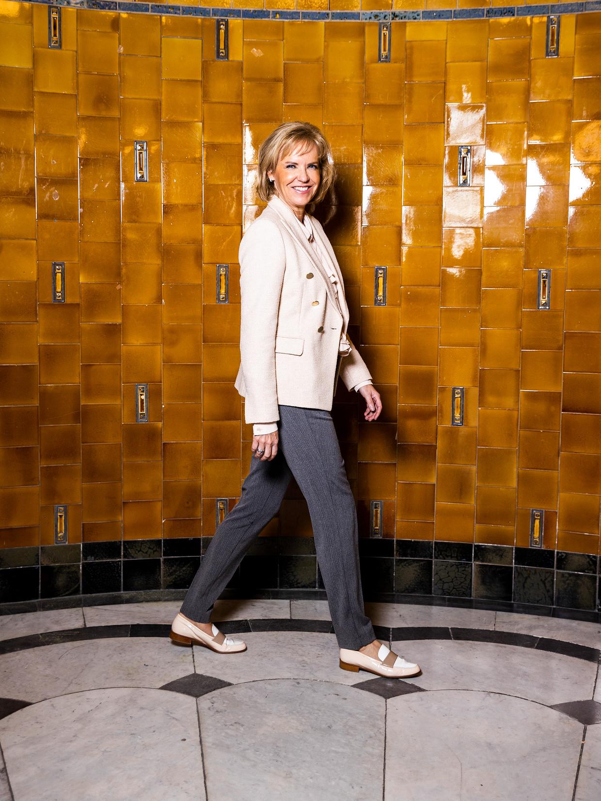 Simone Huis in 't Veld, de hoogste baas van Euronext in Amsterdam. Beeld Jiri Büller / de Volkskrant