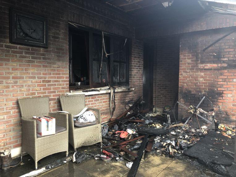 Ook een deel van de keuken geraakte beschadigd.