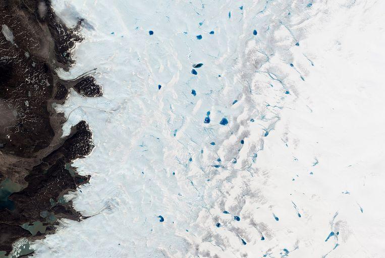 Foto's van NASA voorspellen weinig goeds. Beeld AFP