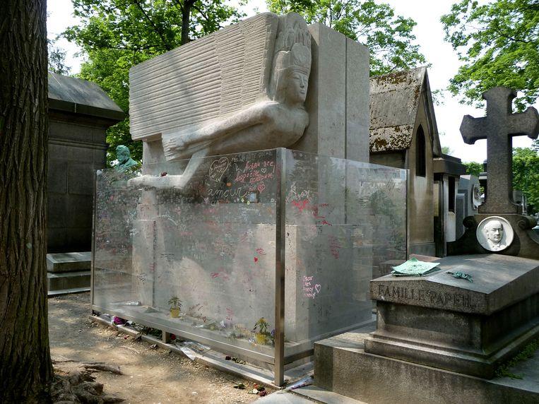 Jacob Epstein, grafmonument voor Oscar Wilde, 1914. Beeld Wikimedia