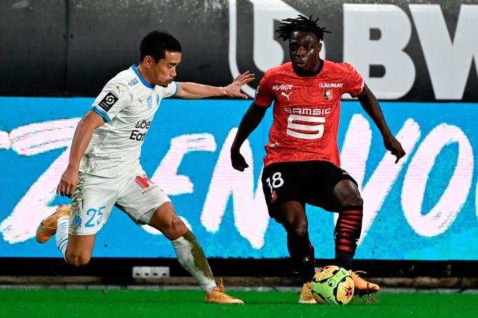Jérémy Doku a distillé son premier assist pour le Stade Rennais contre Marseille.