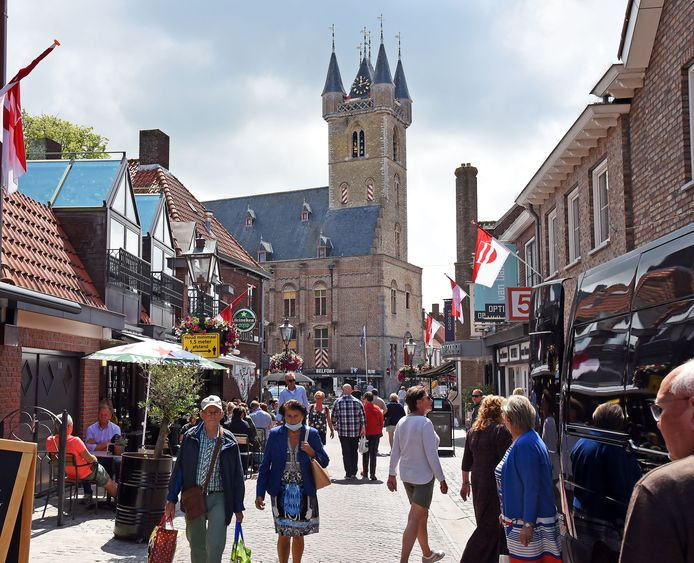 Veel van de bezoekers aan Sluis komen uit België.