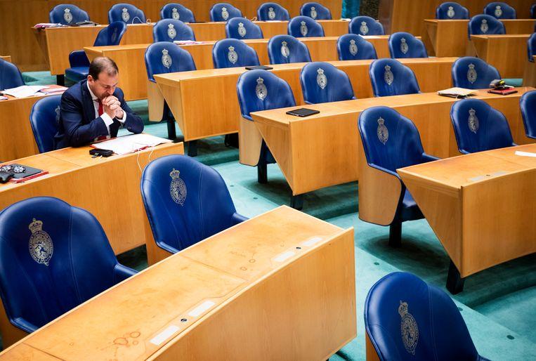 Lodewijk Asscher in de Tweede Kamer. Beeld Freek van den Bergh / de Volkskrant