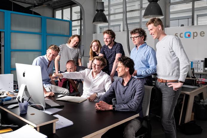 Pim Jonkman, industrieel ontwerper en eigenaar van Scope, benadrukt het belang van teamwork.