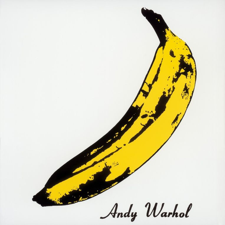De albumhoes van The Velvet Underground & Nico, ontworpen door Andy Warhol. Beeld