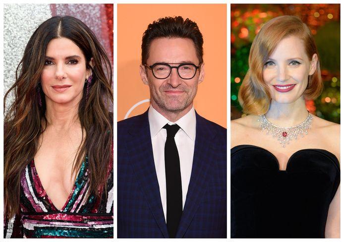 Sandra Bullock, Hugh Jackman en Jessica Chastain