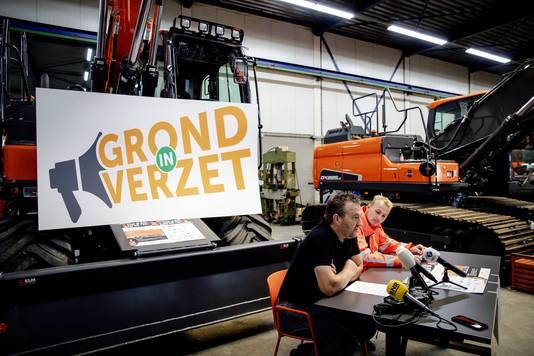 Arnold Tuytel en Klaas Kooiker, voorzitters van Stichting Grond in Verzet.