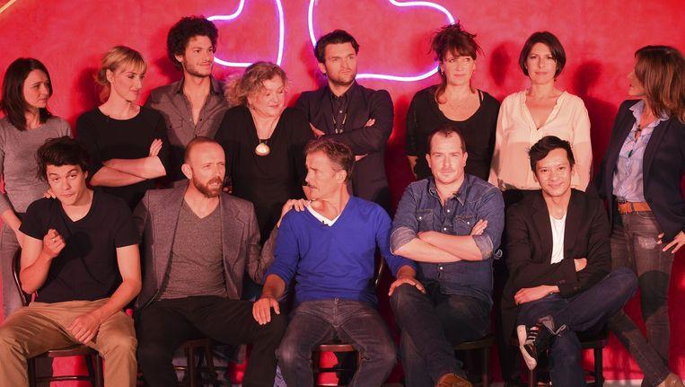 De cast van 'Chaussée d'Amour'. Beeld PHOTO_NEWS