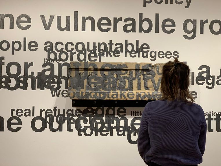 Het fragment van Arti is door Pittas ingebed in woorden over vluchtelingen en achterstanden.  Beeld -