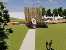 Omstreden houten toren in Brielle mag, maar zonder loopbruggen