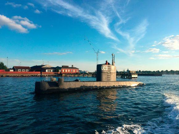 De duikboot UC3 Nautilus in betere tijden.