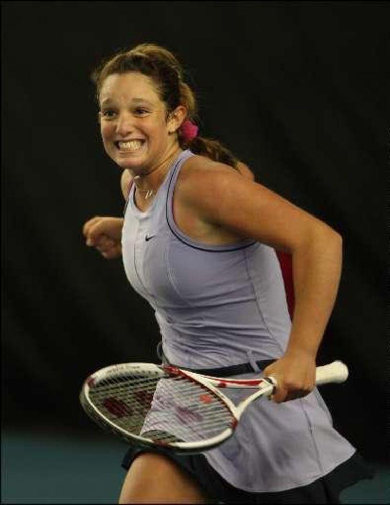 Tamaryn Hendler verraste tegen de Sloveense Andreja Klepac (WTA 129) met 6-7 (1/7), 6-1 en 6-4 Beeld UNKNOWN