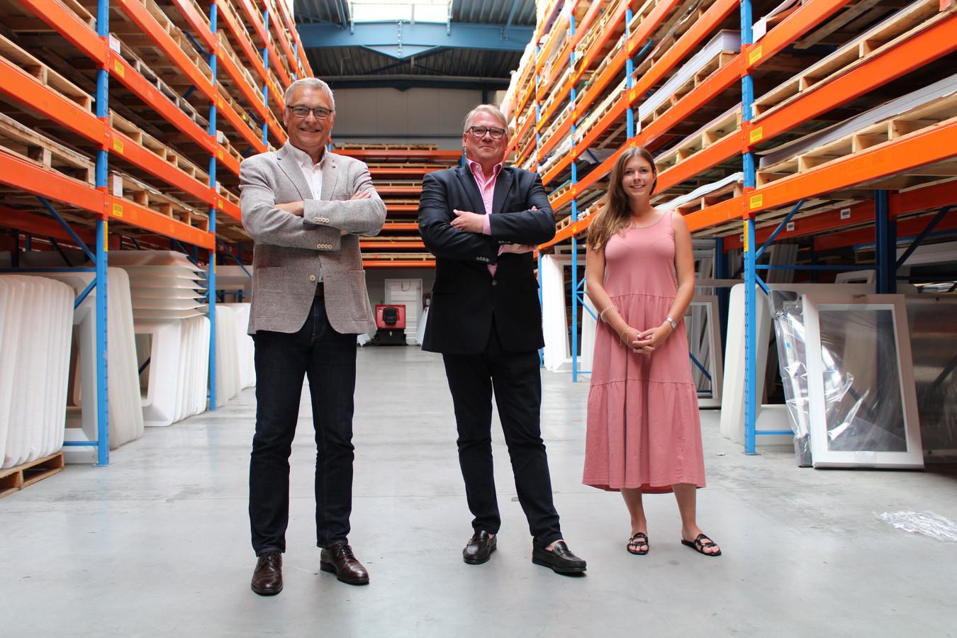 CEO Dirk Salens van Igepa Belux bij Francis en Laurence Seynhaeve.