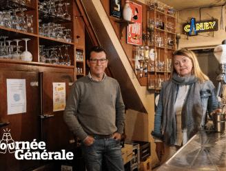 """Tournée Générale. Nadia en Luk van De Leeuwenaer kunnen dan wel niet ál hun 280 bieren aanbieden, maar geen nood: """"Onze 8 speciaalbieren op tap kan je zaterdag zeker bestellen!"""""""