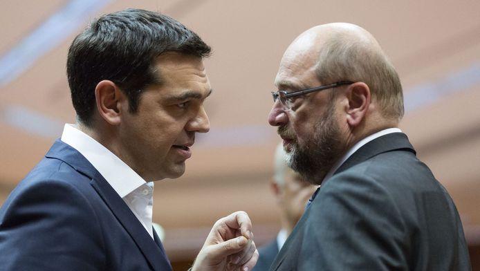 Alexis Tsipras, Premier ministre grec et Martin Schulz.
