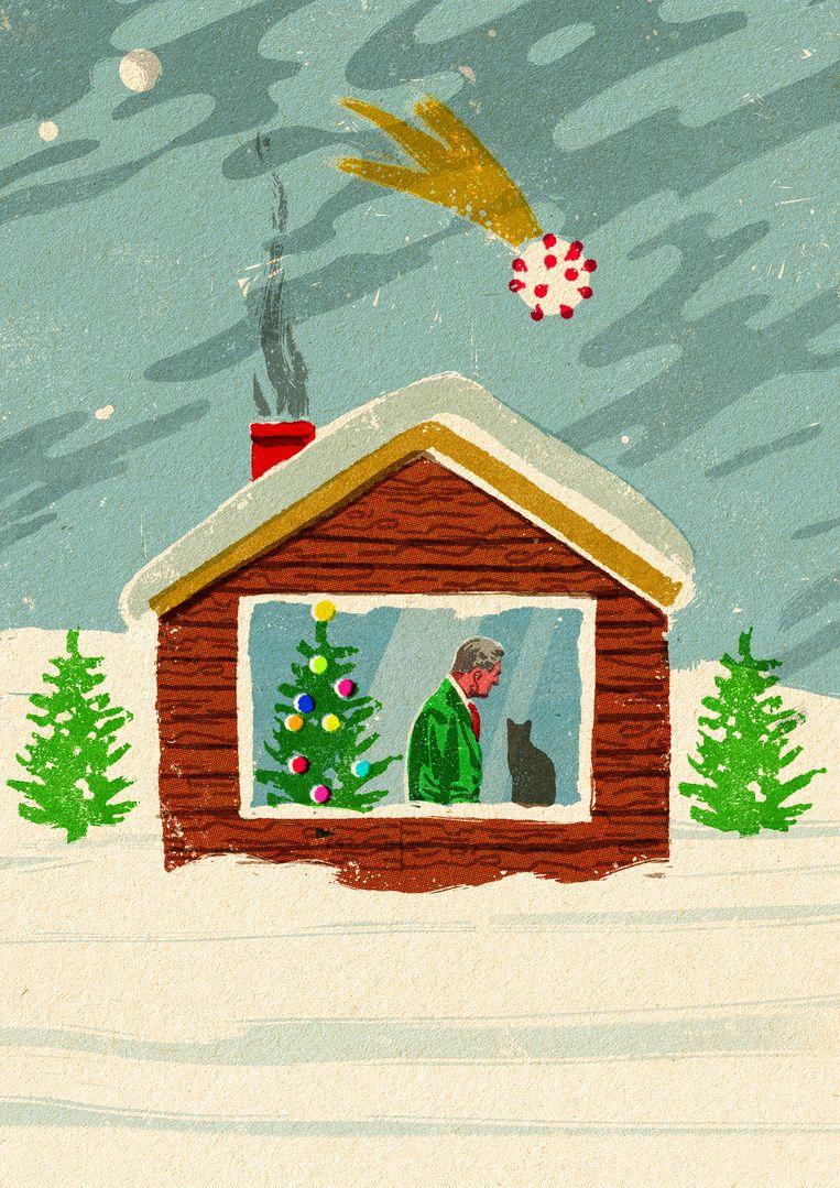 Het dreigt voor veel mensen dit jaar een eenzame kerst te worden. Beeld Tzenko Stoyanov
