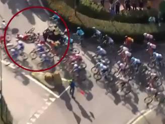 Viviani tiende in Rimini ondanks aanrijding door verdwaalde motor op rotonde
