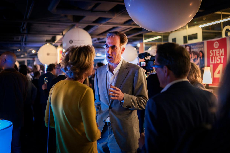 Rob Rooken tijdens de verkiezingsavond van de gemeenteraadsverkiezingen in 2018. Beeld Hollandse Hoogte / Olivier Middendorp Fotografie
