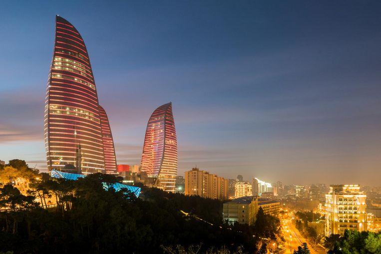De 'Vlammende Torens' zijn het symbool voor het nieuwe Bakoe. Beeld Thinkstock