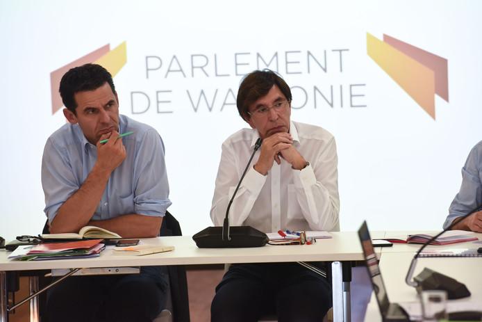 Jean-Marc Nollet (Ecolo) et Elio Di Rupo (PS).