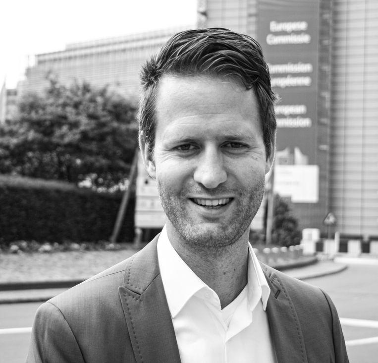 Joost van Doesburg, campagneleider Schiphol bij de FNV. Beeld