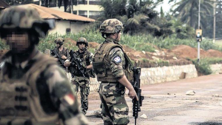Franse militairen in de Centraal-Afrikaanse Republiek. Beeld afp