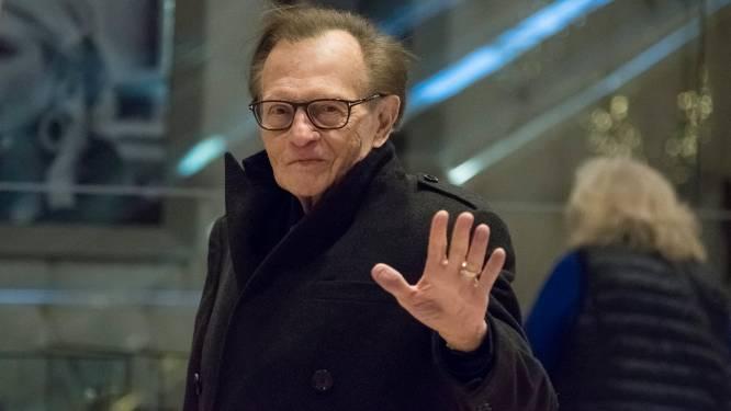 Talkshowlegende Larry King in het ziekenhuis met Covid-19